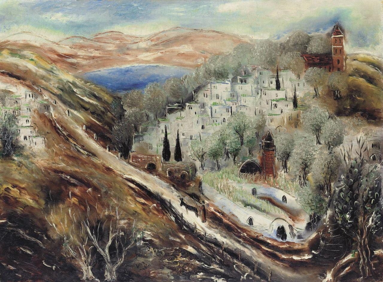 Reuven Rubin (1893-1974) Lake Kinneret (1930s)oil on canvas 54 x 73.3cm
