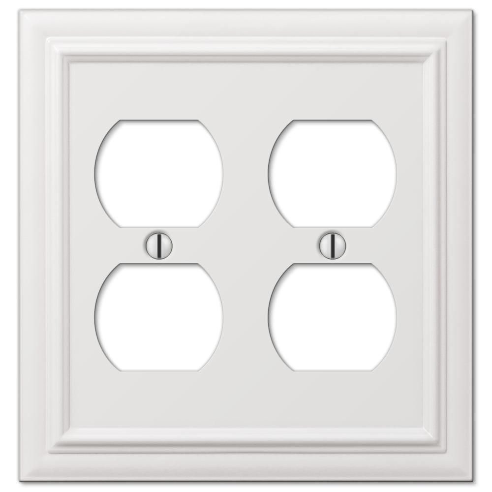 Amerelle Continental 1 Toggle 1 Duplex Wall Plate White 94ddw Plates On Wall Outlet Plates Decor Essentials