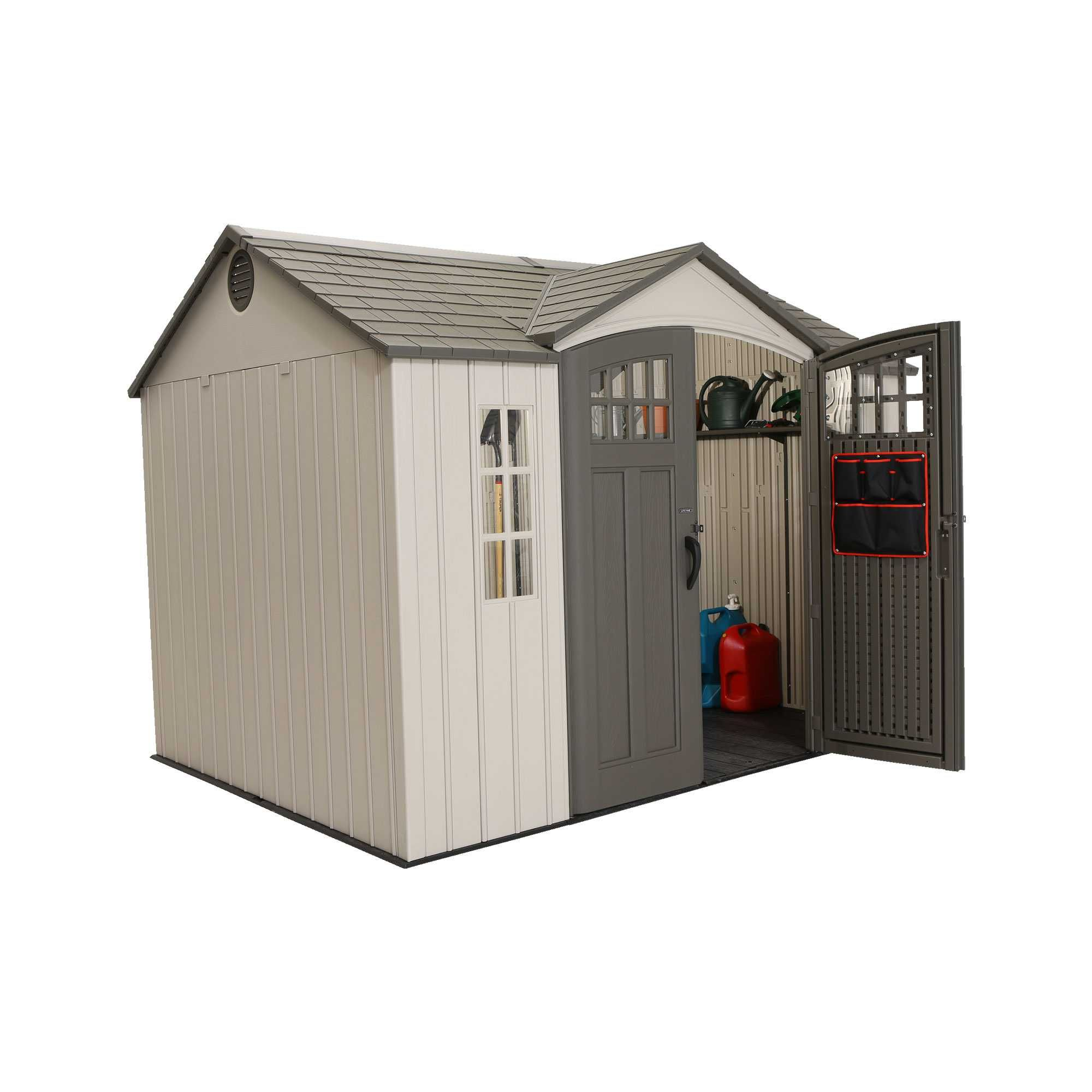 60106 71 25 Square Ft 494 5 Cubic Ft The Lifetime 10 X 8 Garden Building Features Vertical Siding Lifetime Storage Sheds Vertical Siding Shed Storage