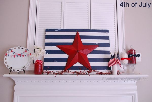 4th of july mantel decorations http www craftaholicsanonymous net 4th of july mantel decorations