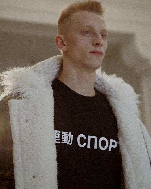 Sheepskin coat backstage at Gosha Rubchinskiy AW15 Paris. See more here: http://www.dazeddigital.com/fashion/article/23325/1/gosha-rubchinskiy-aw15
