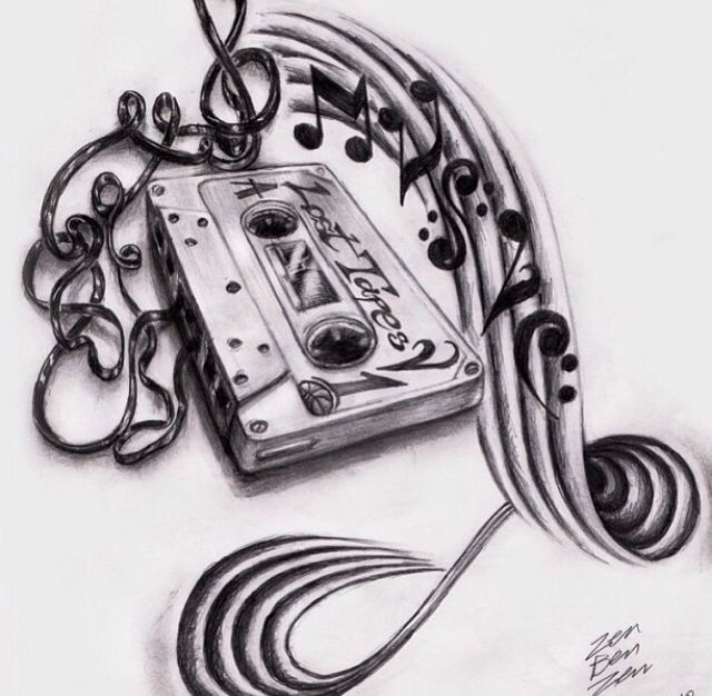 Cassette And Headphones Tattoo: Would Love To Get This!! Tape Deck Music Tattoo