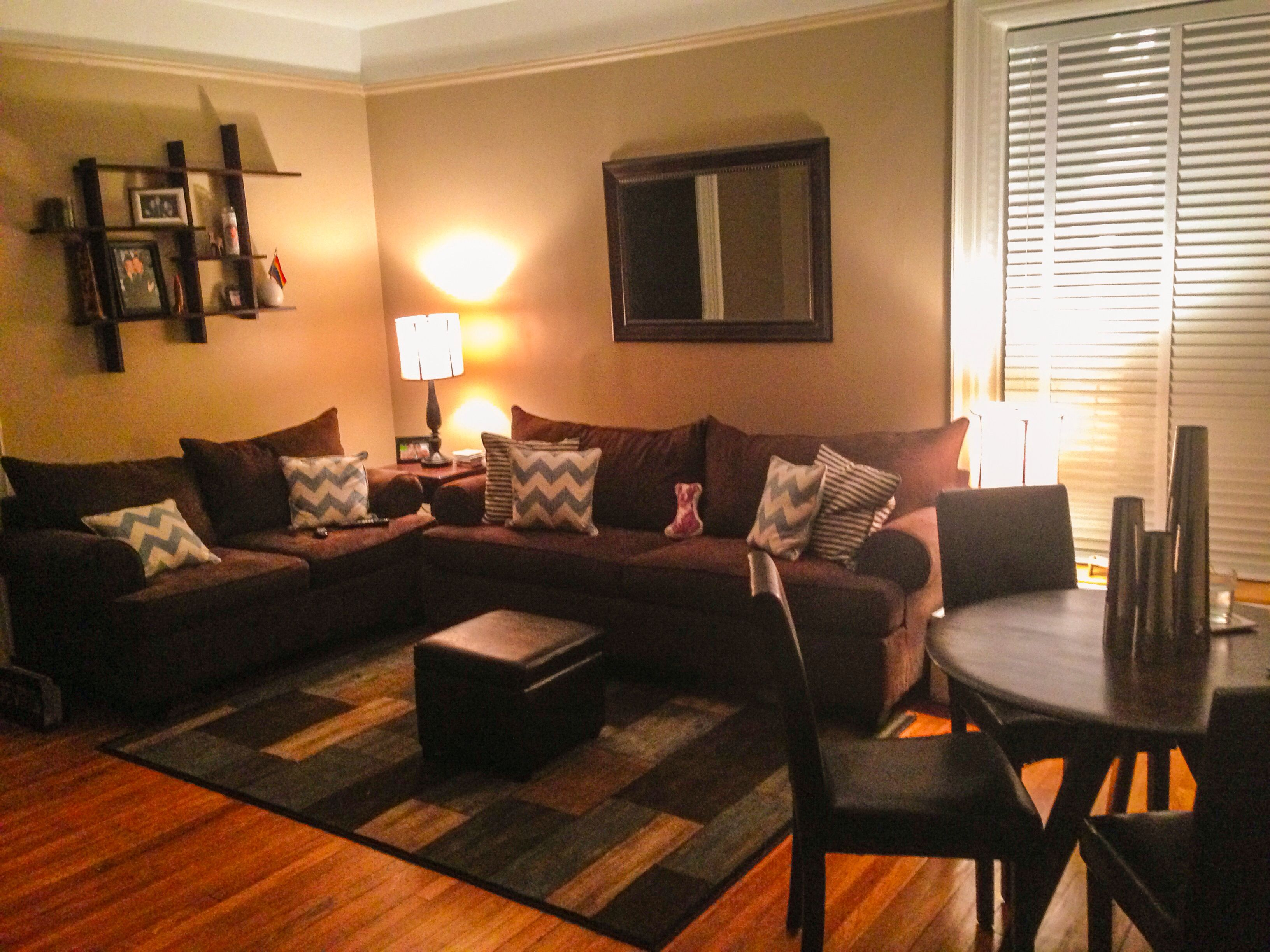 New Living Room Warm Colors With Splashes Of Chevron