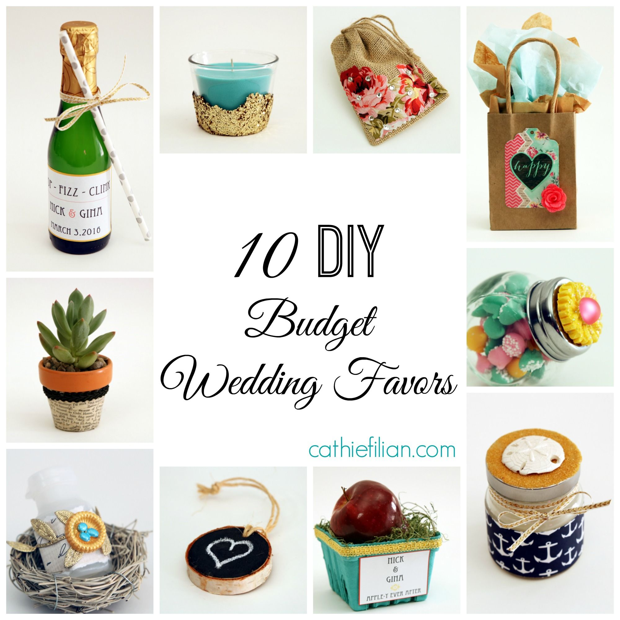 10 diy wedding favors with mod lodge: bubbles, champagne labels ...