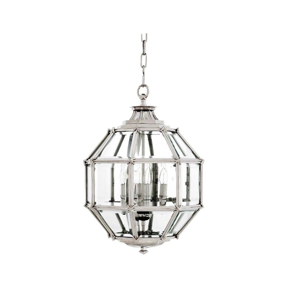 eichholtz owen lantern traditional pendant lighting. Eichholtz Owen Lantern Nickel Traditional Pendant Lighting Z
