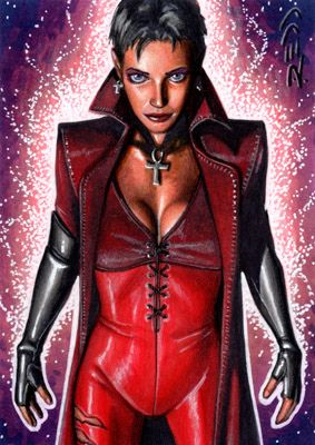 Scarlet Witch X Men Evolution Sketch Card Scarlet Witch X Men Evolution X Men