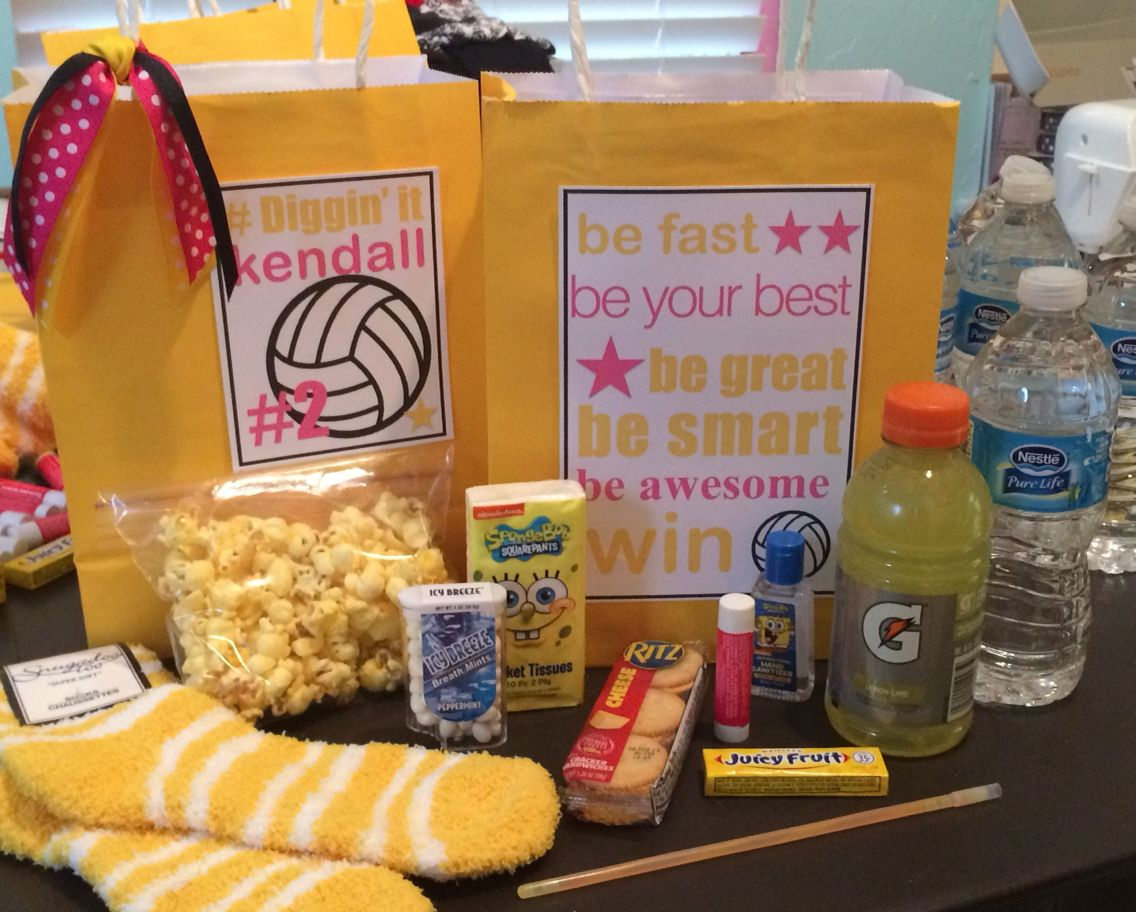 Volleyball Team Gift Spirit Bags