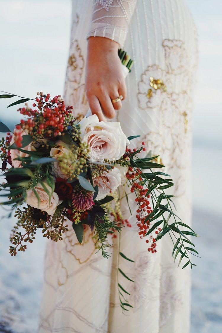 Drop-Dead Gorgeous Winter wedding bouquet
