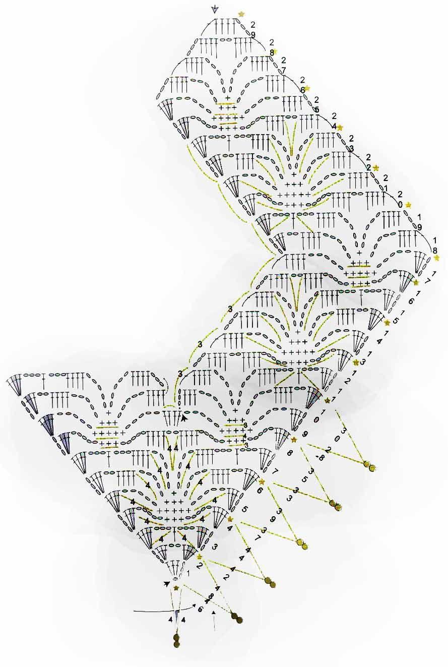 Cuello-Collar con Abalorios Patron - Patrones Crochet | lace collar ...
