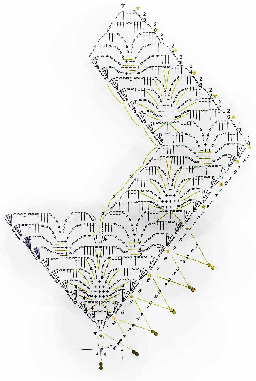 Cuello-Collar con Abalorios Patron - Patrones Crochet | Узоры вяз ...