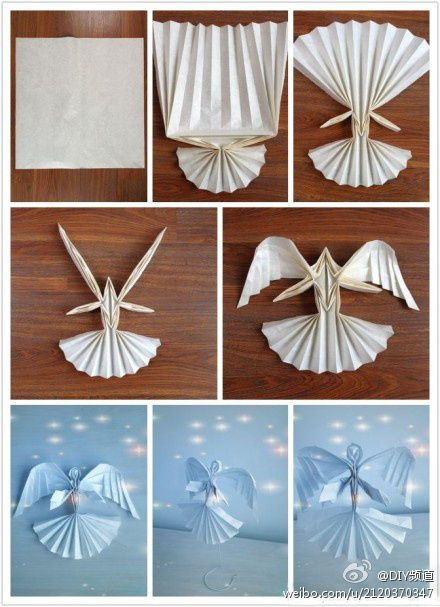 tutorial origami angel