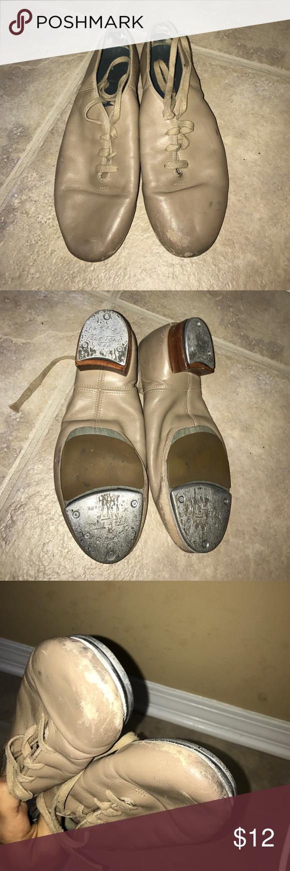 Capezio Tan Tap Shoes Capezio Split Sole Tap Shoes, Tan, VERY WORN Capezio Shoes