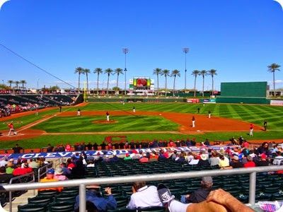 Goodyear Ballpark, playing the Reds.