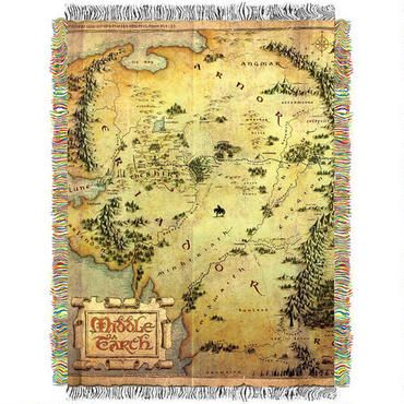 And This Blanket The Hobbit An Unexpected Journey Map
