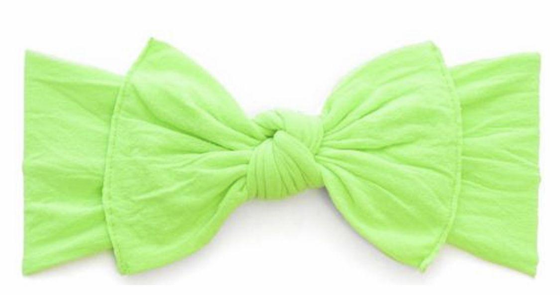 Neon Lime Green Baby Bling Knot Headband Trendy Headbands
