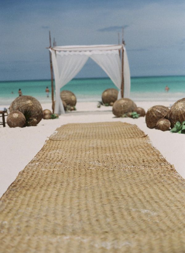 Beach For An Aisle Runner On The Think About Alternative To