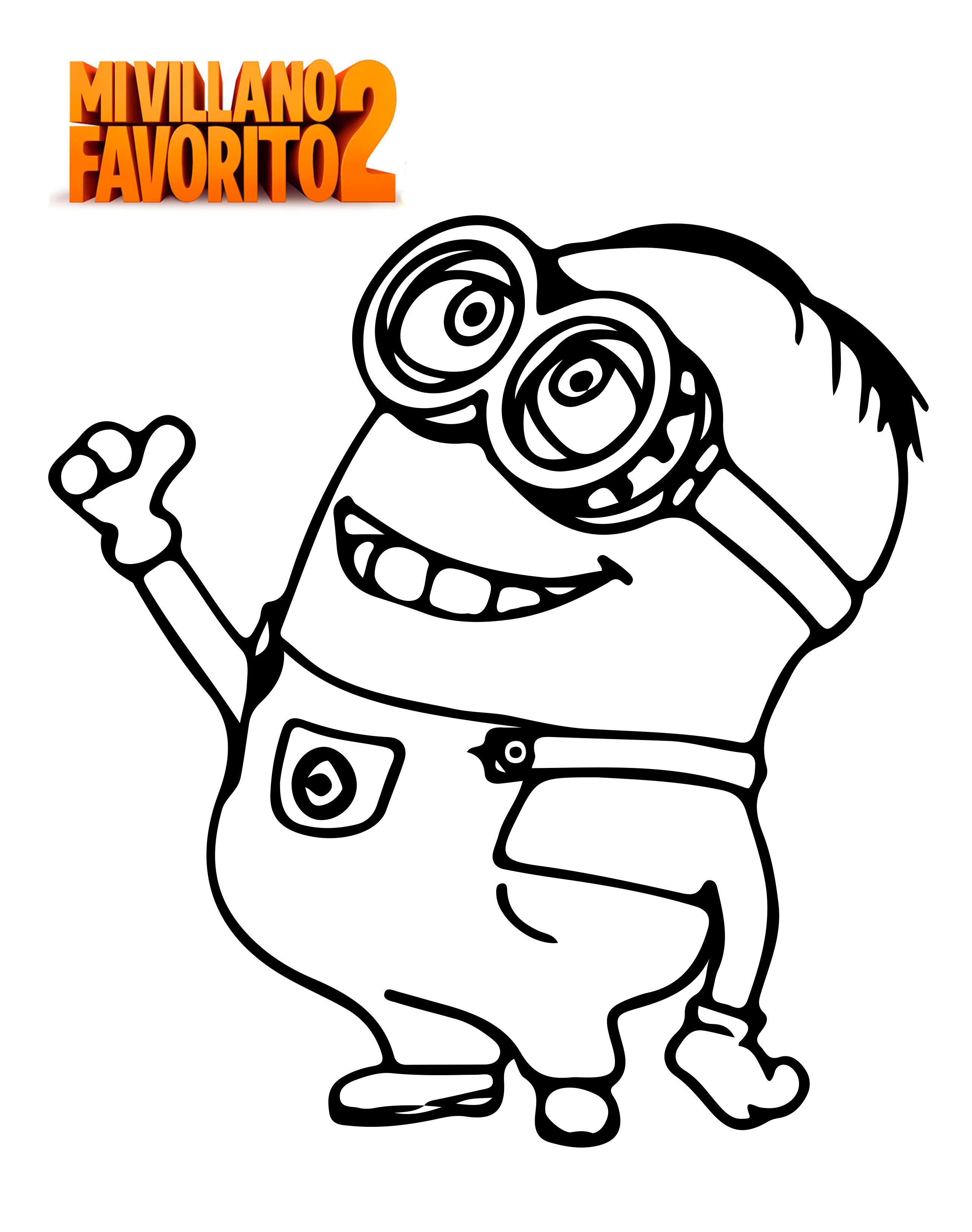 Minions Coloring Page Printable Colouring Easy Minion Coloring