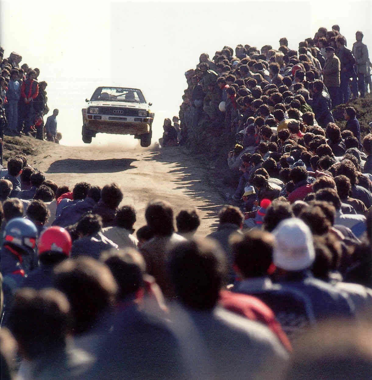The Ridiculous Crowds Of Spectators During The Days Of Group B 1221x1246 Rally Car Audi Quattro Race Cars