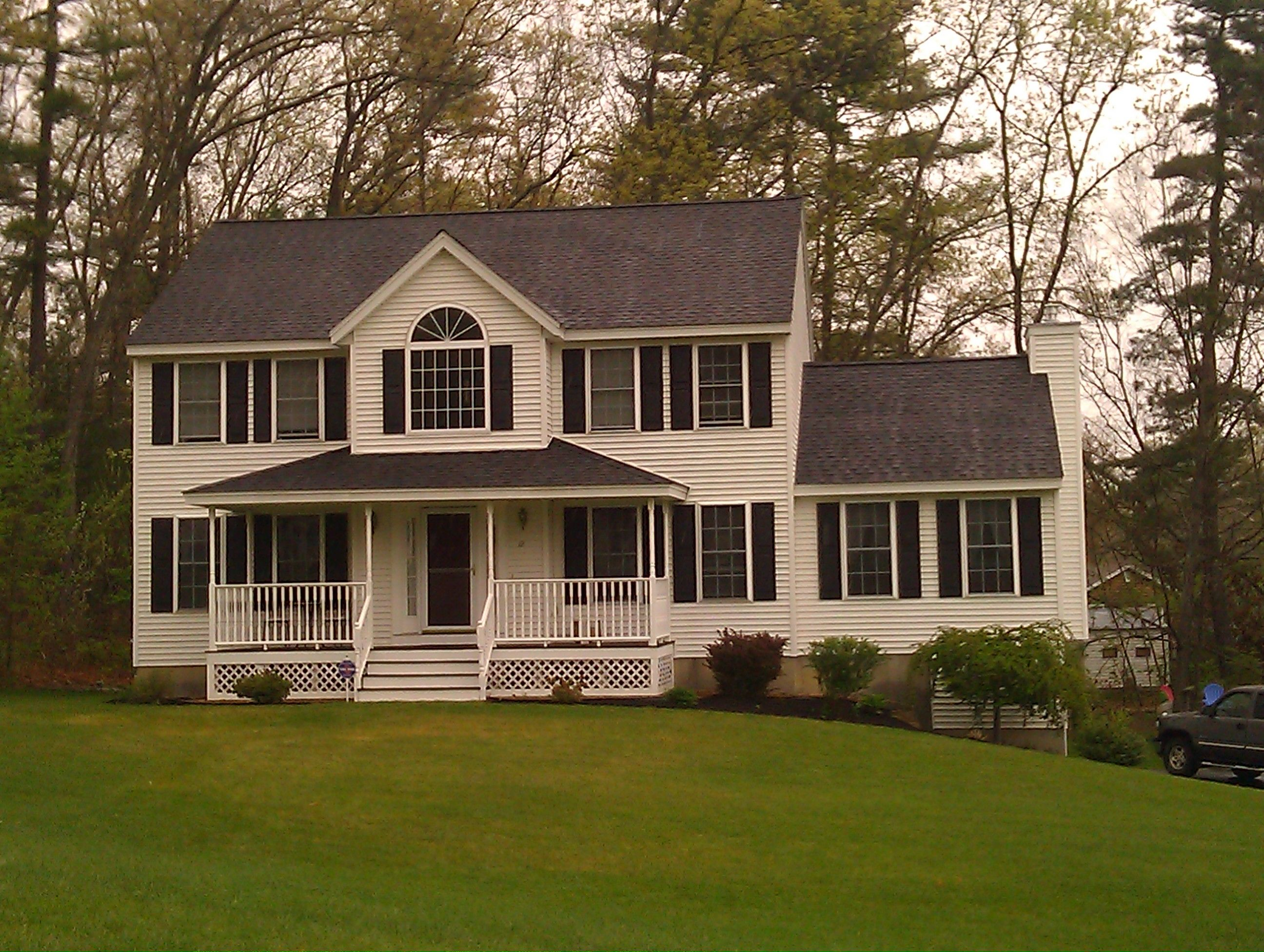 Windham Nh Homes Porch Architecture Colonial Farmhouse