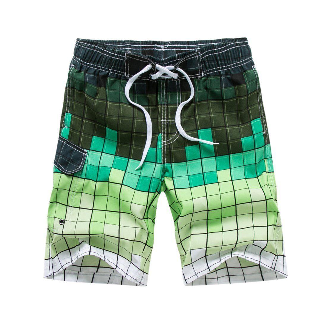 Big Hit Mens Summer Board Shorts Quick Dry Elastic Waist Swim Trunks