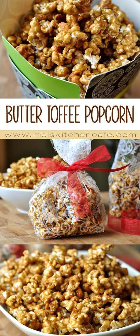 Butter Toffee Popcorn Recipe Popcorn recipes, Toffee