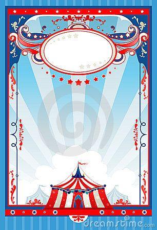 Carnival Border Templates | Blank Circus Sign Circus-poster ...