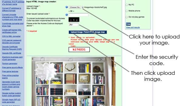 """How to Create Clickable """"Image Maps"""" for your blog or website."""