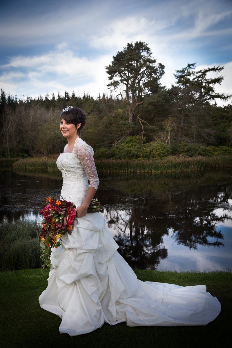 Scottish tartan wedding dress  Beautiful Scottish wedding at Mavis Hall Park Edinburgh Scotland