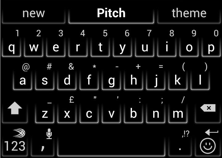 fb6ab426457 Pitch is a new SwiftKey theme designed to appeal to AMOLED smartphone users!