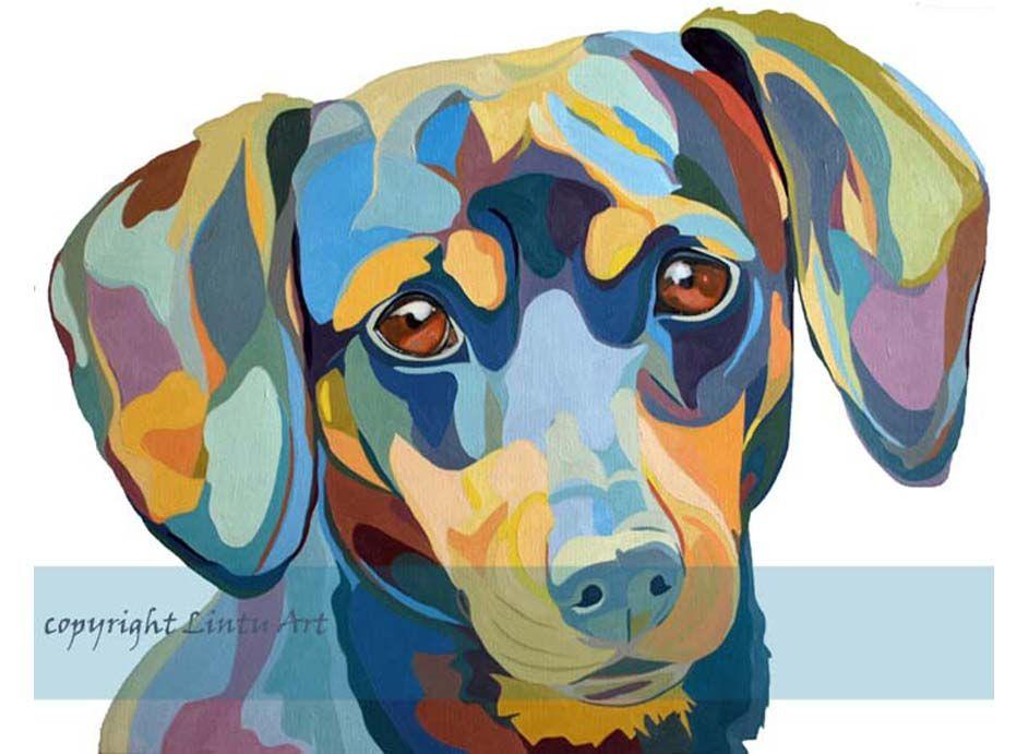 Lintu Art Family And Pet Portraits 2014 By Sarah Thornton Dachshund Oil Paint 9 Dachshund Art Art Dog Art