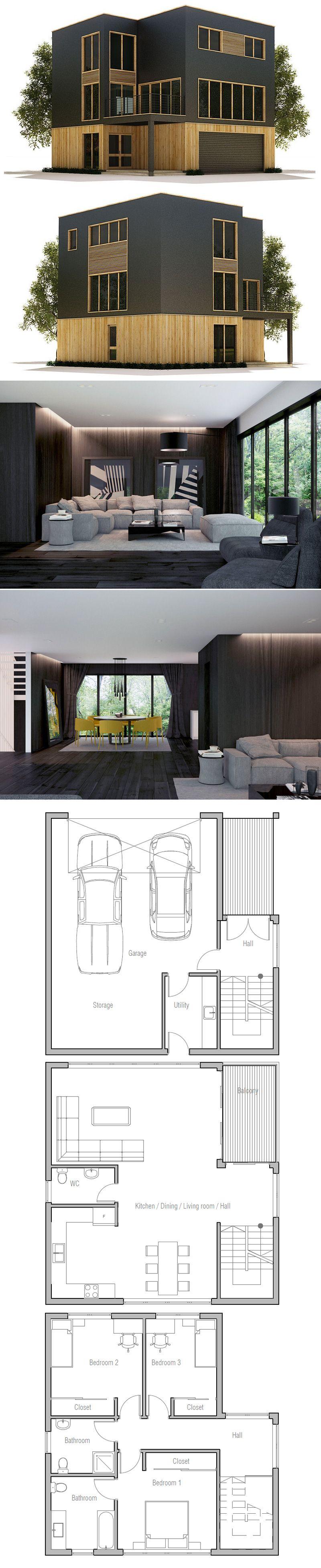 Modern House Plan | container homes | Pinterest | Bauzeichnung ...