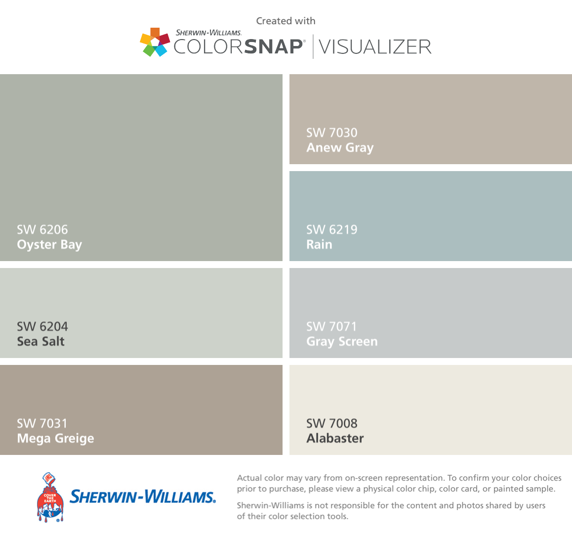 I Found These Colors With Colorsnap Visualizer For Iphone By Sherwin Williams Oyster Bay Sw
