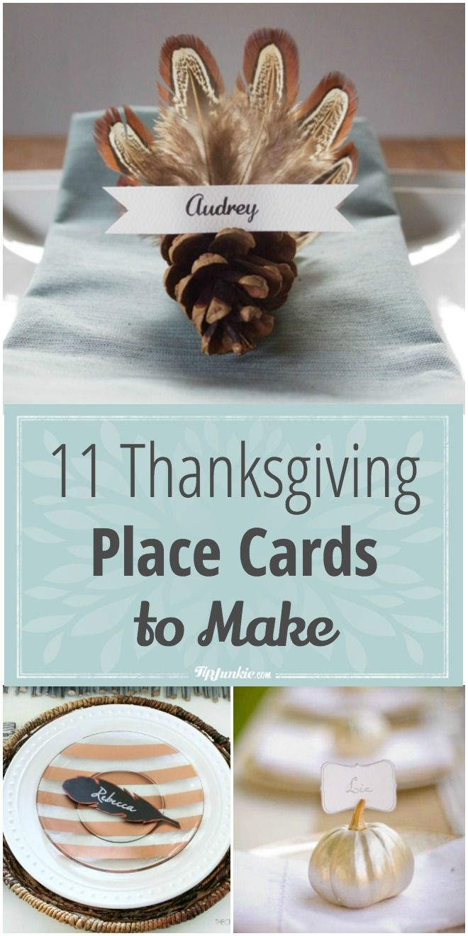 thanksgiving place cards to make thanksgiving day best
