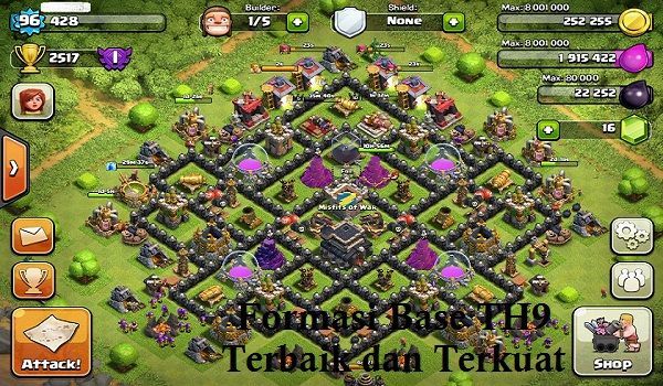 Base Coc Th 9 Max Terkuat 1
