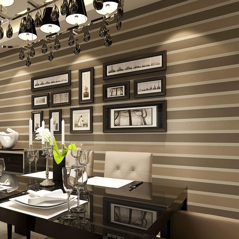 Oro-Modern-foil-papel-pintado-de-rayas-para-paredes-3-d-brillo-tela ...