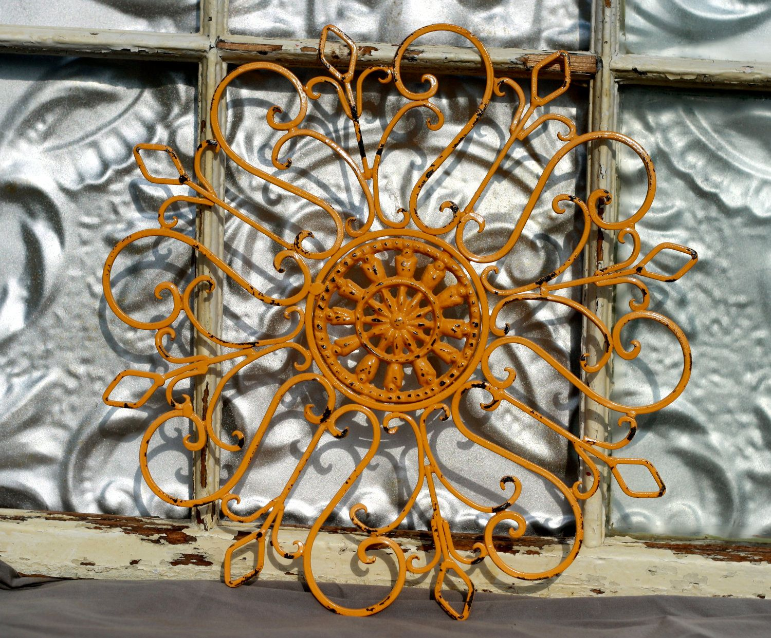 Wrought Iron Wall Decor/ Metal Wall Hanging/ Indoor/ Outdoor Metal Wall Art/ Patio/ Cottage ...