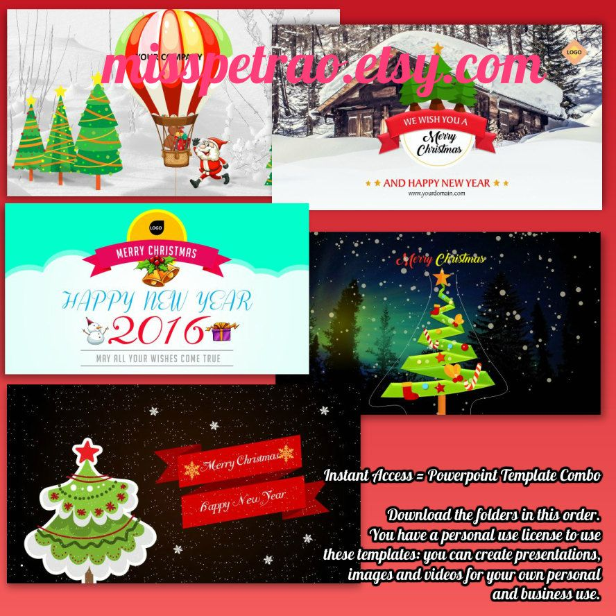 Holiday christmas and new year animated powerpoint templates combo holiday christmas and new year animated powerpoint template package digital delivery replace texts to alramifo Gallery