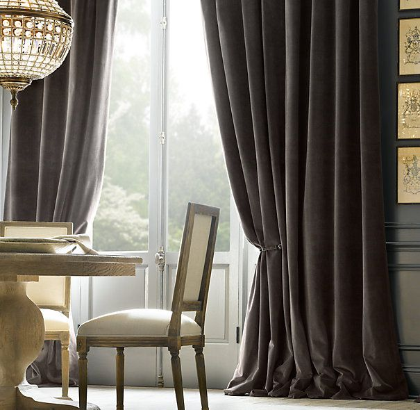 Curtains Ideas black velour curtains : Black Velvet Curtain Panels - Rooms