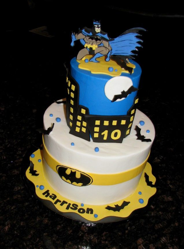 Batman Cake Batman cakes Cake and Birthday cakes