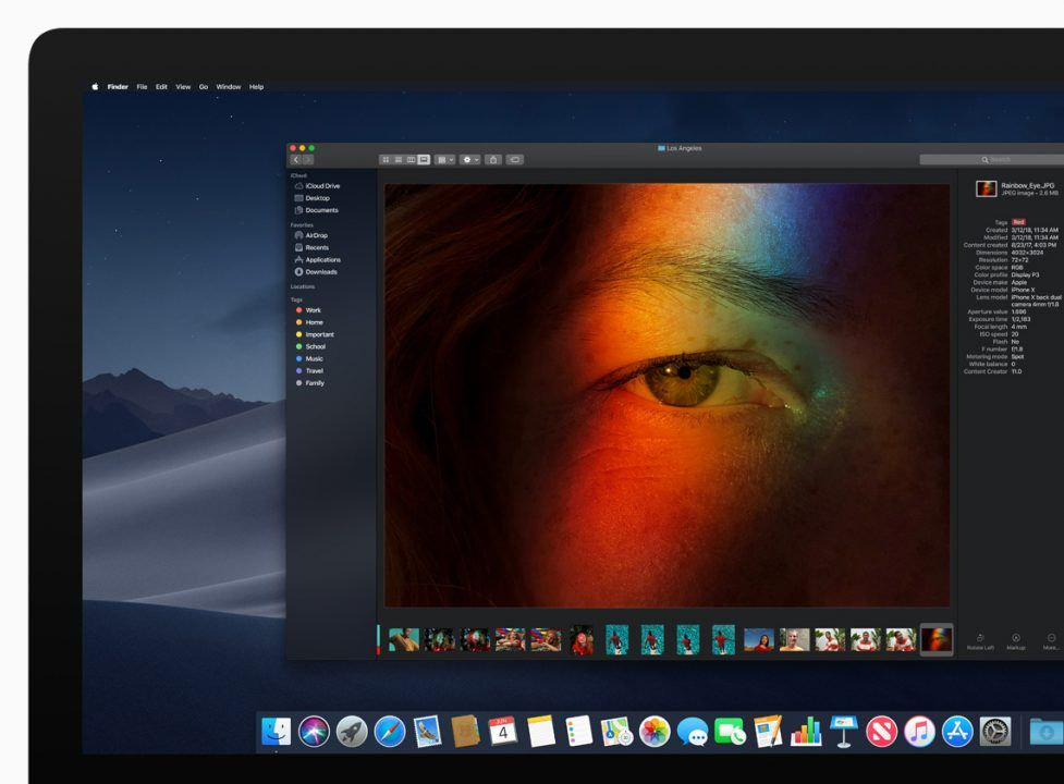 Apple Devoile Macos 10 14 Mojave Applications Ios Sur Mac Mode