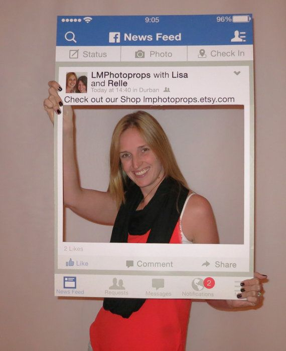 Facebook Style Frame Large Photo Booth Extra Large Photo Etsy Photo Frame Prop Facebook Photo Prop Photo Booth