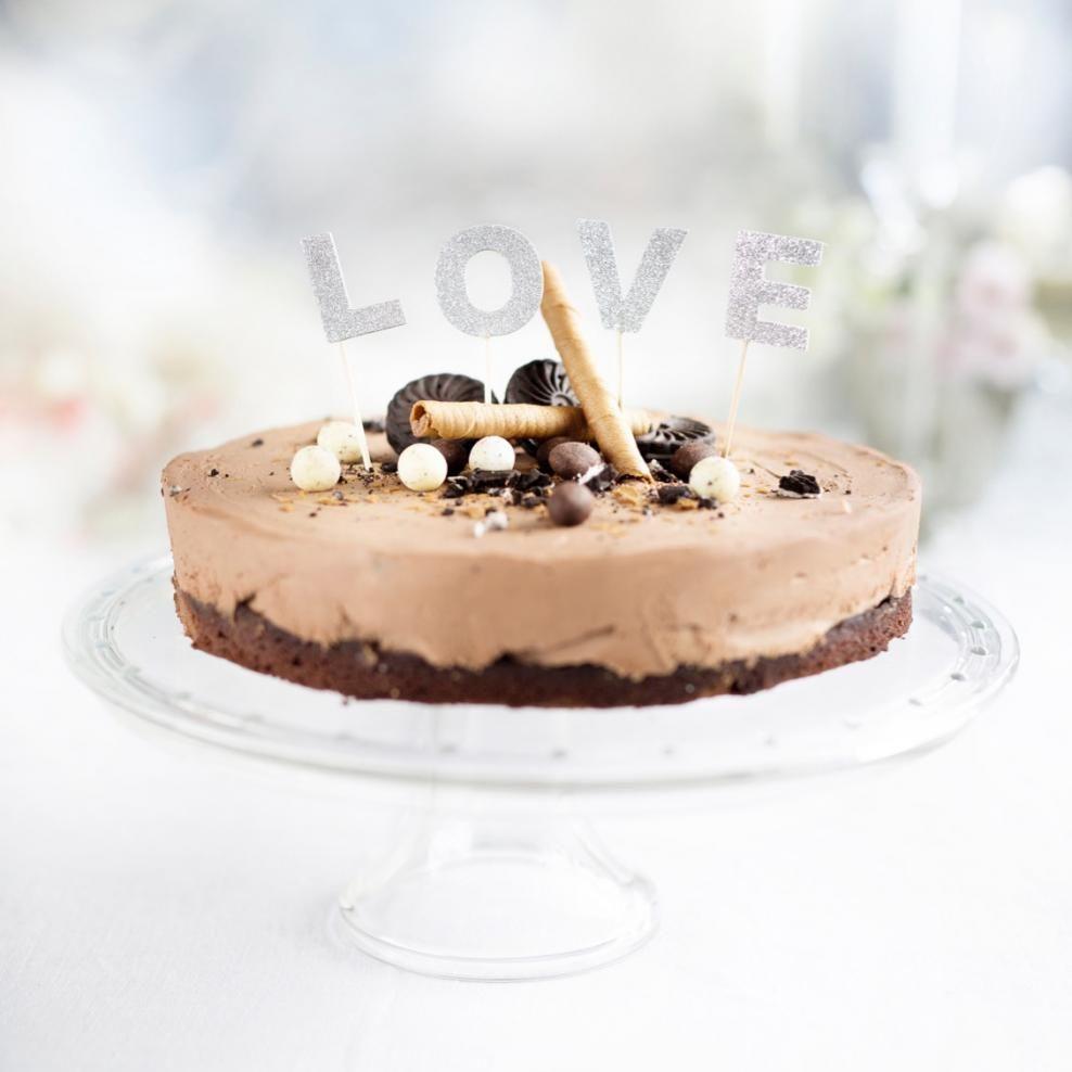 Suklaajuustokakku mutakakkupohjalla