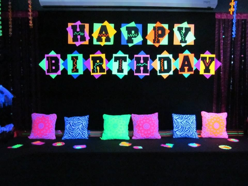 glow in the dark blacklight neon party made with glow paper black light party pinterest