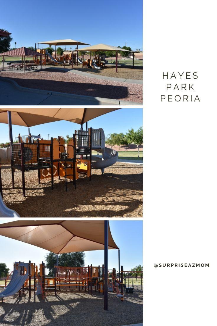 Hayes Park Peoria Park, Outdoor structures, Pergola