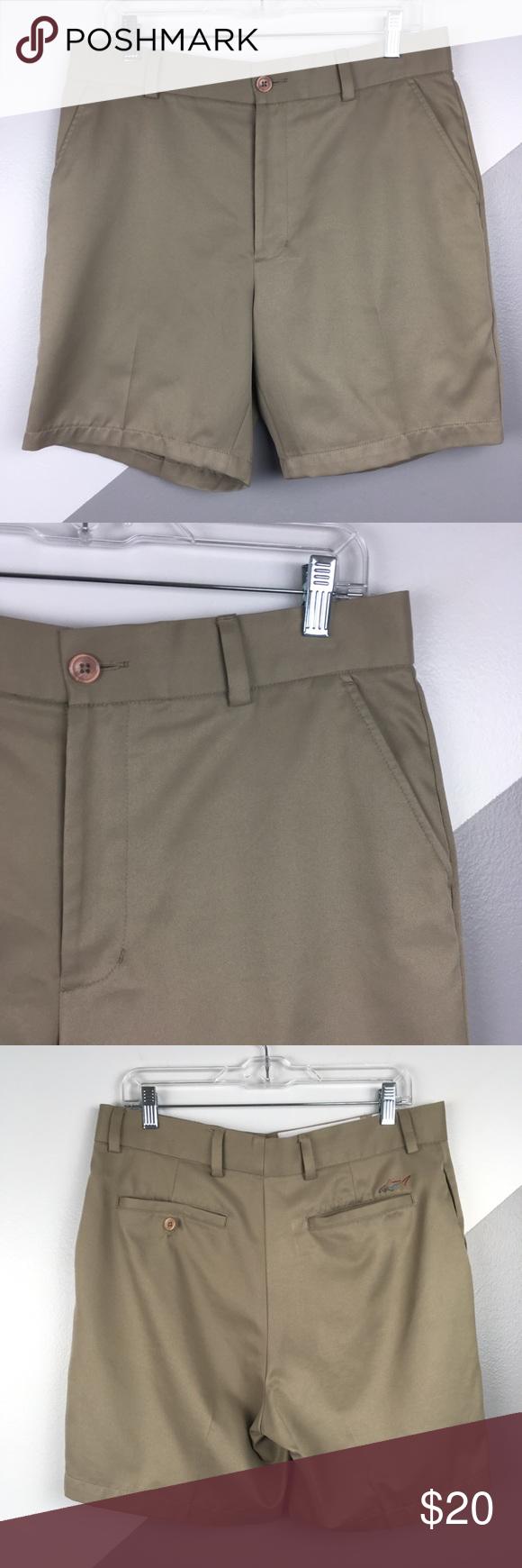 Greg Norman X Tasso Elba 34 Golf Shorts Golf Shorts Shirt Tucked In Shorts