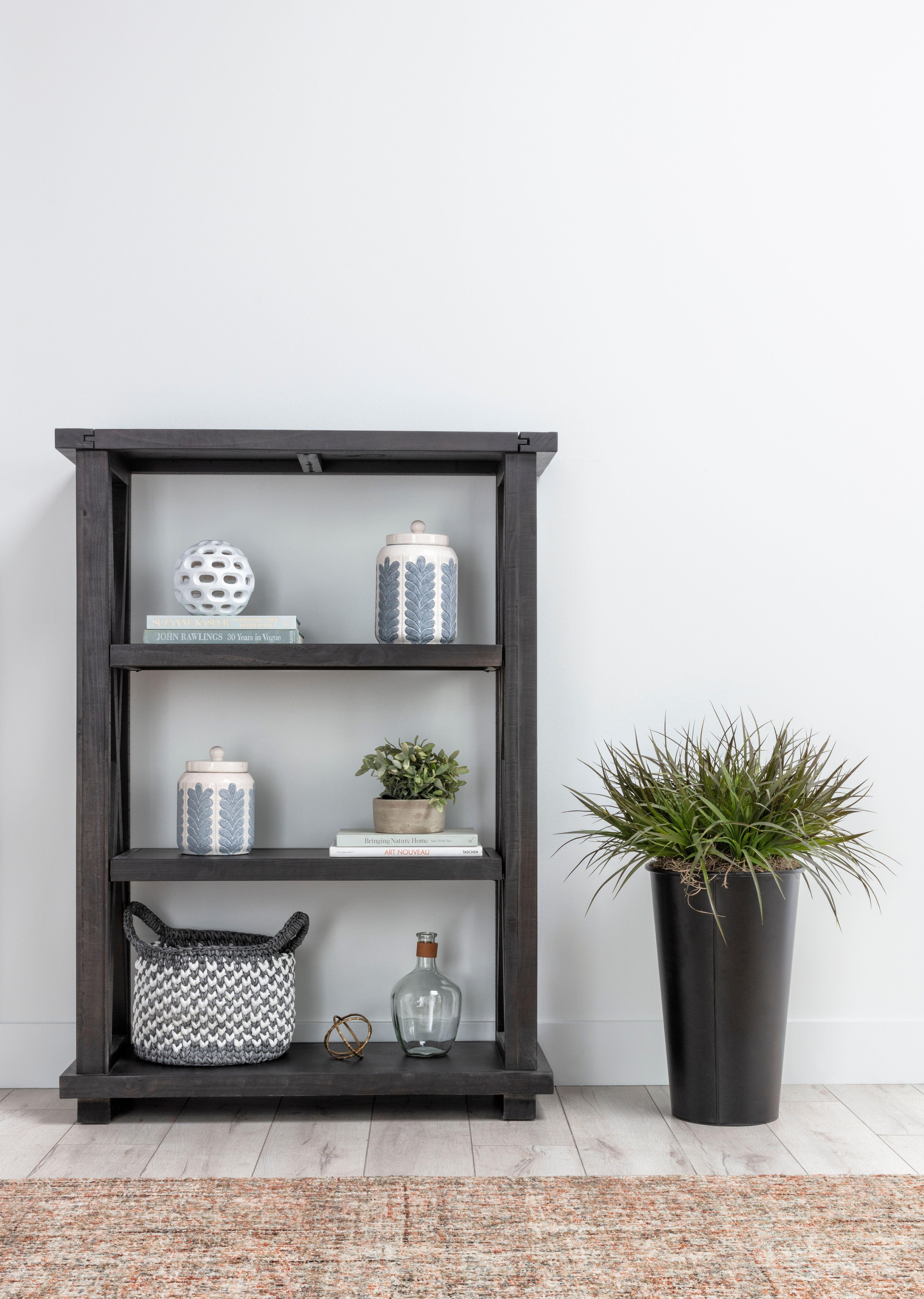 Jaxon 54 Inch Bookcase In 2020 Bookcase Accent Decor Farmhouse Decor
