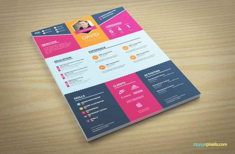 Colorful Stylish Resume And Cover Letter Templates   Color Sets