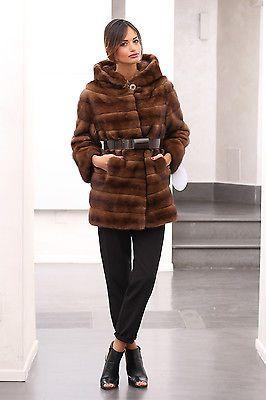 lowest price e4e16 486fe Dettagli su Pelliccia cappotto di pelliccia visone Cappotto ...