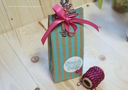Geschenktüten, Stanz und Falzbrett, Stampin´up, Designerpapier Sommerglanz,