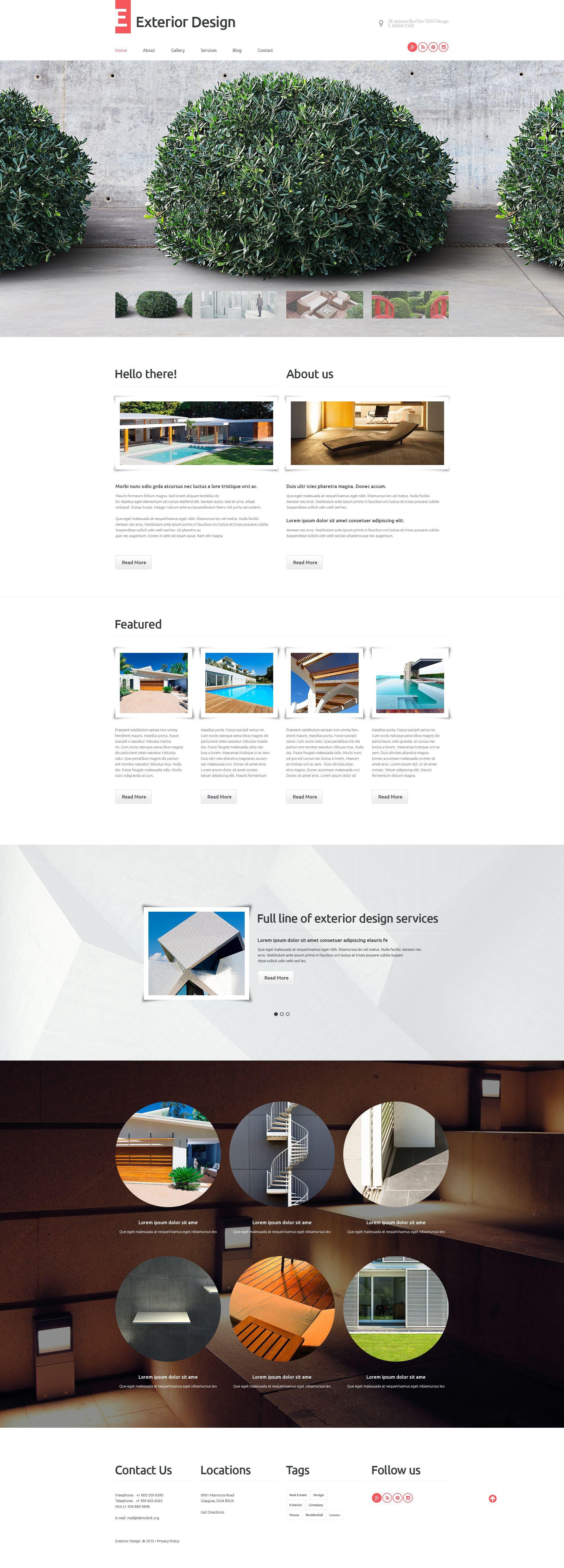 Exterior Design WordPress Theme